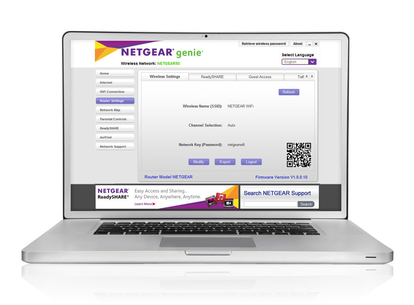 NETGEAR genie app allows you to control your wifi network on your smartphone or tablet.